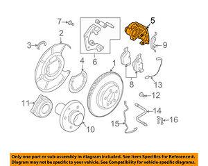 bmw oem 04 07 525i rear brake disc caliper 34216758058 ebay rh ebay com 2007 BMW 525I Problems 2007 BMW 328I