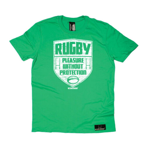 Rugby T-Shirt Funny Novelty Mens tee TShirt Rugby Pleasure Without Protection