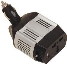 Car & Van Travel 12v Socket to USB 2 & 3 Pin Plug Mini Power Inverter Adapter