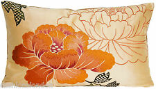 Orange Cushion Cover Botan Embroidered Silk Fabric Osborne& Little Textile