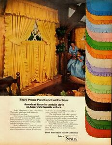 1976 Vintage ad for Sears-Perma-Prest Cape Cod Curtains/Multi-Colors (060713)