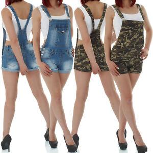 c1db17aa8749 Das Bild wird geladen malucas-Damen-Jeans-Latzhose-Overral-Jumpsuit-Kurze- Hose-