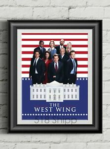 The-West-Wing-Art-Print-TV-Poster-Aaron-Sorkin-Jed-Bartlet-Martin-Sheen
