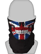 Union Jack UK SKULL SCALDACOLLO FASCIA CAPELLI MASCHERA BIKER paintball
