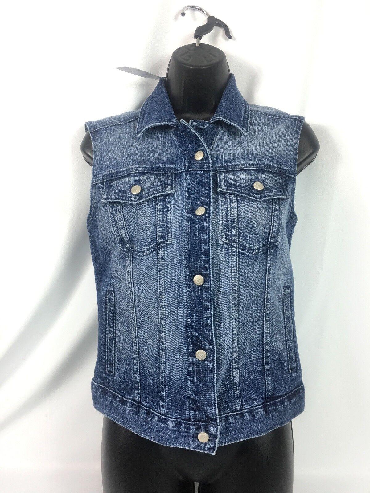 Bebe  Denim Distressed Vest Size XS NWT MSRP 109.00