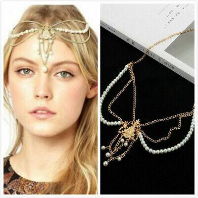 Fashion Head Jewellery Women Hair Chain Headpiece Alloy Chain Ladies Headdress