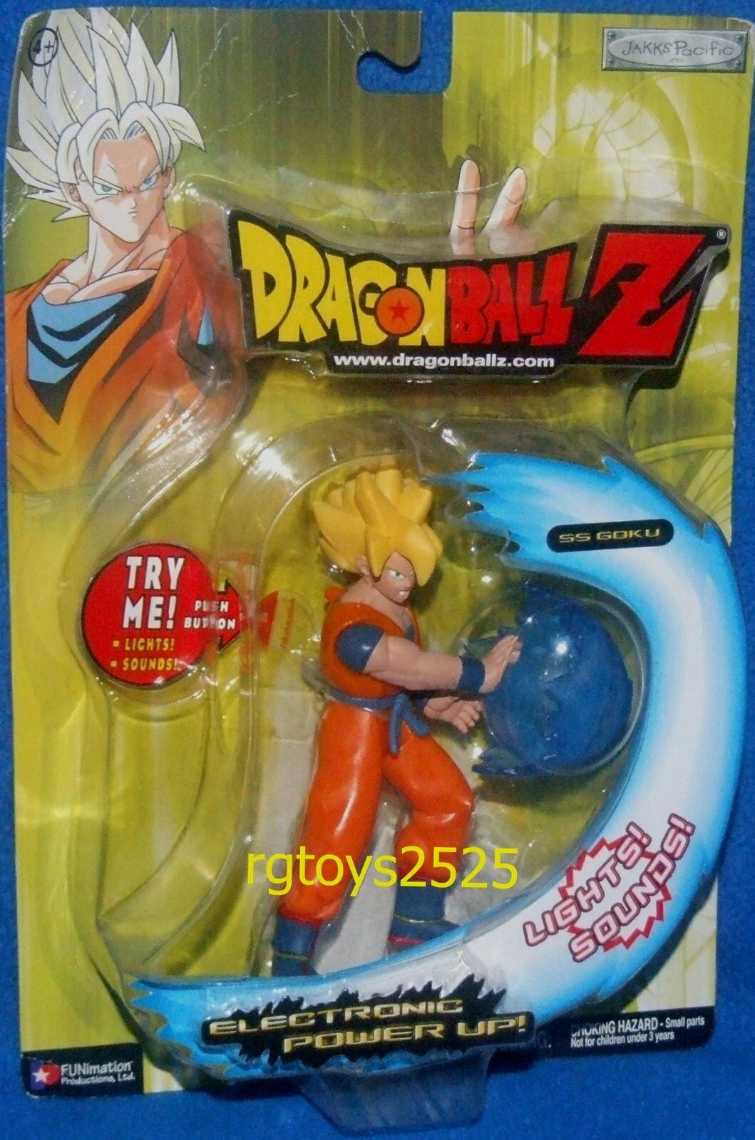 DRAGONBALL Z  Electronic Power UP SS GOKU New 6  Lichts & Sounds 2004