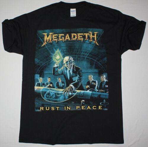 MEGADETH RUST IN PEACE BLACK T SHIRT THRASH SPEED DAVE MUSTANE METALLICA ANTHRAX