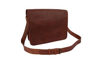 Vintage-Leather-Messenger-Bag-15-034-Laptop-Business-Shoulder-Bag-School-Bag