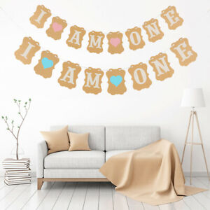 I-AM-ONE-Bunting-Garland-Banner-Baby-Girl-or-Boy-First-Birthday-Party-Decoration