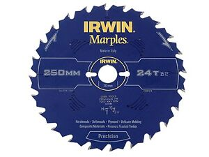 IRWIN IRW1897474 250 x 30mm 24-Teeth Irwin Marples Circular Saw Blade with ATB T