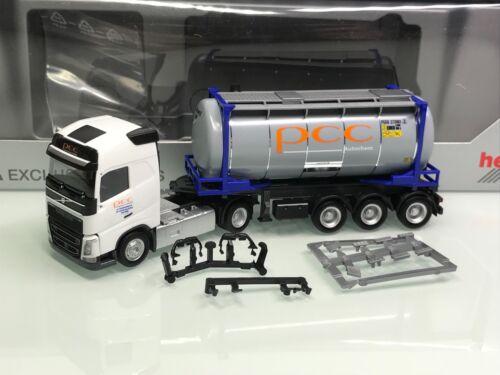 Mo4532 Herpa 926850 PCC Autochem Polen Volvo FH Gl XL 20ft Swap Container SZ