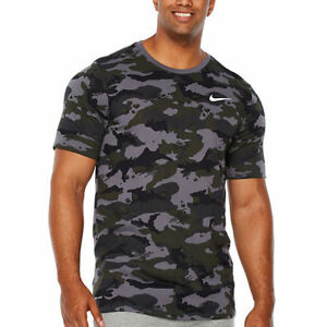 f5d2a505f NWT NIKE MEN'S DRI-FIT Big & Tall CAMOUFLAGE Athletic T-Shirt GREEN ...