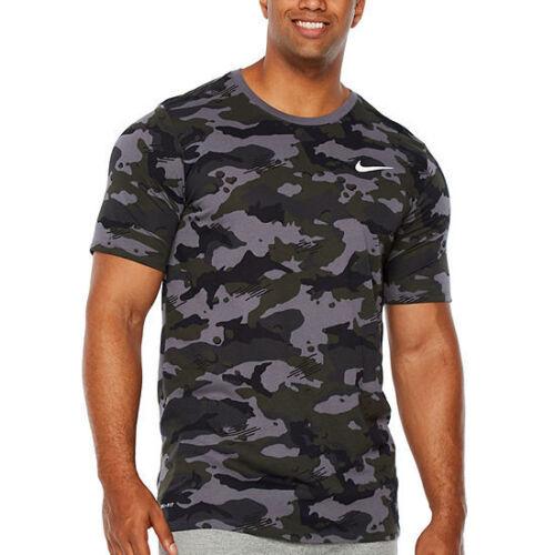 NWT NIKE MEN/'S DRI-FIT Big /& Tall CAMOUFLAGE Athletic T-Shirt GREEN GRAY BLACK