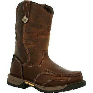Georgia-Men-039-s-GB00441-Athens-360-Waterproof-Pull-On-Work-Boots