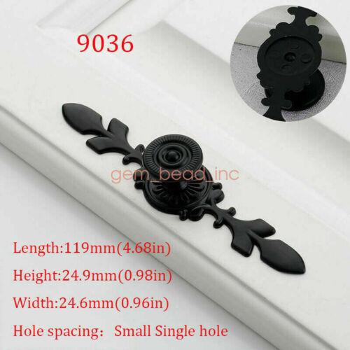 Black Drawer Cabinet Furniture Door Handles Knobs Wardrobe Hardware Pull Handles
