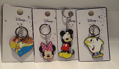 Amichevole Primark Disney La Bella E La Bestia; Chip; Minnie E Mickey Portachiavi Nuovo Di Zecca-mostra Il Titolo Originale
