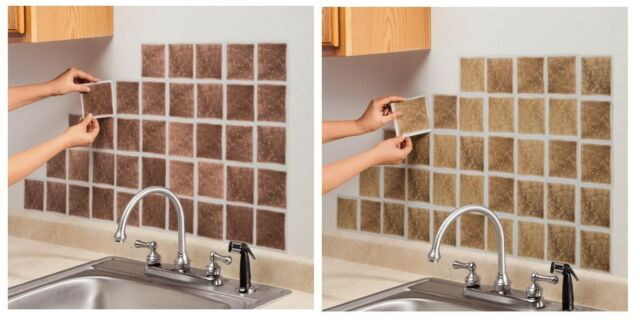 Self Adhesive Wall Tiles Set Of 27, Easily Decorate Kitchen, Bathroom, Anywhere