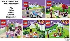 5x Lego Friends Exklusive alle 5 Mädchen 30102 30103 30105 30107 30108