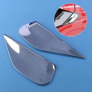 2×For Buick Encore Mokka 2012 Chrome Rear Window Spoiler Side Bevel Cover Trim