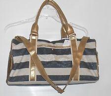 Icing Bling Sequin & Glitter Stripe Duffle Bag Handbag Tote Multi Color NWT