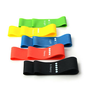 Elastic-Resistance-Exercise-Loop-Bands-Yoga-Gym-Fitness-Workout-Stretch-Physio