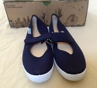 Natural World Girls Blue Mary Janes Size 37