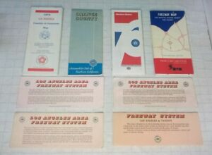 Vintage 1970sAAA Road/Freeway System Maps Automobile Club Los Angeles California