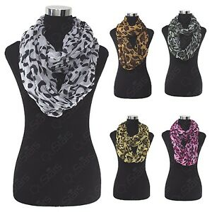 LOT-OF-WOMEN-039-S-FASHION-LEOPARD-CHEETAH-ANIMAL-PRINT-WARM-INFINITY-COWL-SCARF