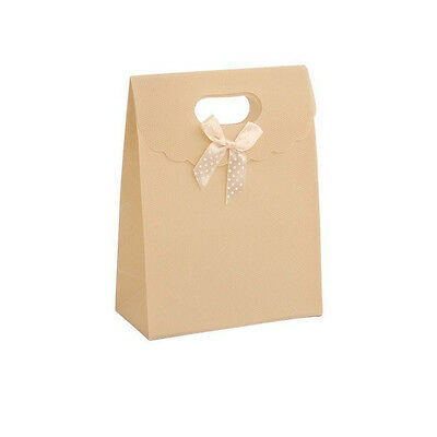 Qualità Al 100% 12 Pezzi Sacchetto Borsa Wedding Bag Con Fiocco Manico Plastica (avorio) Per Prevenire E Curare Le Malattie