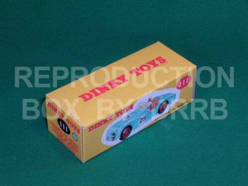 Reproduction Box by DRRB Dinky #111 Triumph TR 2 Sports pink