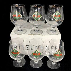 Ritzenhoff-Cristal-Beer-Glasses-Palm-Ale-Crystal-Chalice-Set-of-6-German