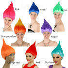 Troll Style Festival Party Colourful Elf/Pixie Wig Cartoon Characters UK
