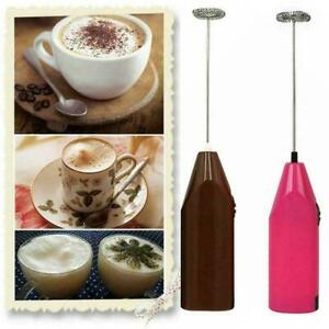 Mini Electric Egg Beater Hand Milk Shake Whisk Mixer Tool Coffee Battery Z8D4