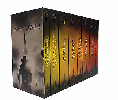 Stephen King The Dark Tower Series 8 Books Collection Set Gunslinger, Waste Land