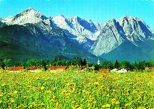 Garmisch-Partenkirchen mit Zugspitzgruppe ; Ansichtskarte gel.