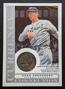2003-Topps-Gallery-Hank-Greenberg-Currency-1945-Silver-Nickel-CC-HG-HoF-Tigers