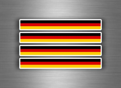 4x sticker decal car stripe motorcycle racing flag bike tuning germany german