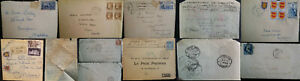 Vintage French France Postal History Covers 1837 - 1980 Letters Postcards Multi