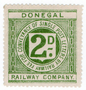 I-B-Donegal-Railway-Company-Letter-Stamp-2d