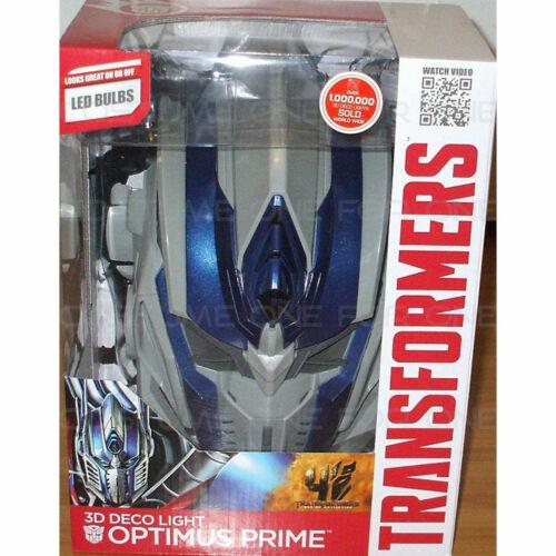 Transformers Optimus Prime 3D Deco Wall Light Room LED Nightlight Toy Kids
