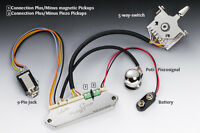 Schaller Flagship Guitar Preamp W/ 5-way Toggle Switch For Piezo Bridges