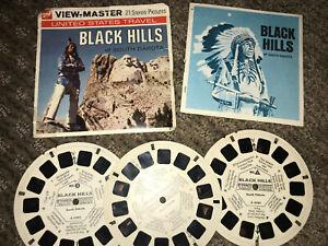 Black-Hills-A486-Viewmaster-Reels-Vintage-3-Reels-GAF