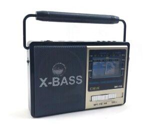 Radio Portatile Usb Lettore Mp3 Scheda Sd Pen Drive Radio Am Fm Mk-116 cir