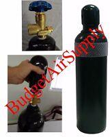 40 Cf Cu.ft. Nitrogen Tank Cylinder Argon,helium,c02,hvac,cga580 +transport Cap