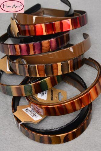 "Gallery Art Brush Stripe Headband .75/"" wide by HAIR ASIA 2-piece set"