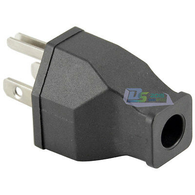 AC 125V 15A 3 Pin Male Power Cord Connector US Plug For Computer PC UL Approval