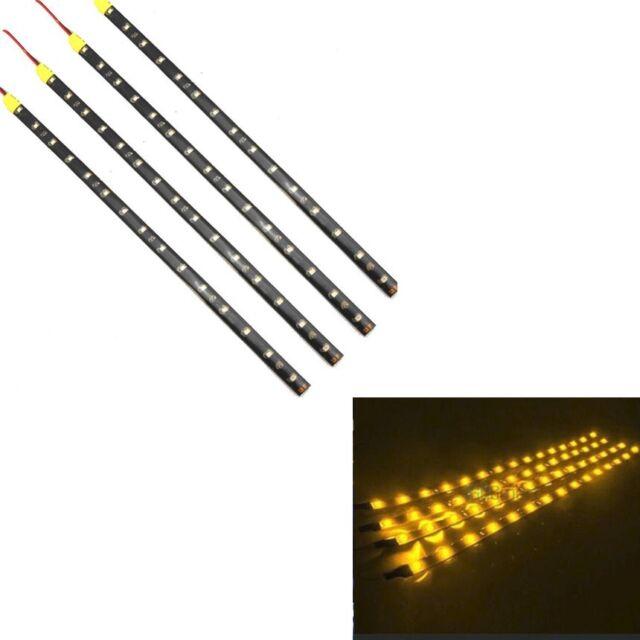 "4 PCS 12V 12/"" 1FT 15SMD Flexible LED Strip Light Waterproof For Car Truck Boat"