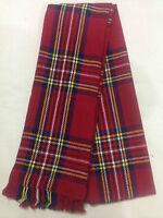 Rot Schottenmuster Kariert Mode Winter Royal Stewart Schal A Kleidung Essential