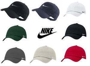 NIKE-SWOOSH-Logo-Casquette-De-Baseball-Reglable-Golf-Sports-Gym-Bleu-Marine-Noir-Blanc
